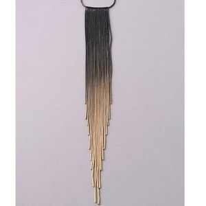 Jewelry - NEW Black & Gold Fringe Necklace
